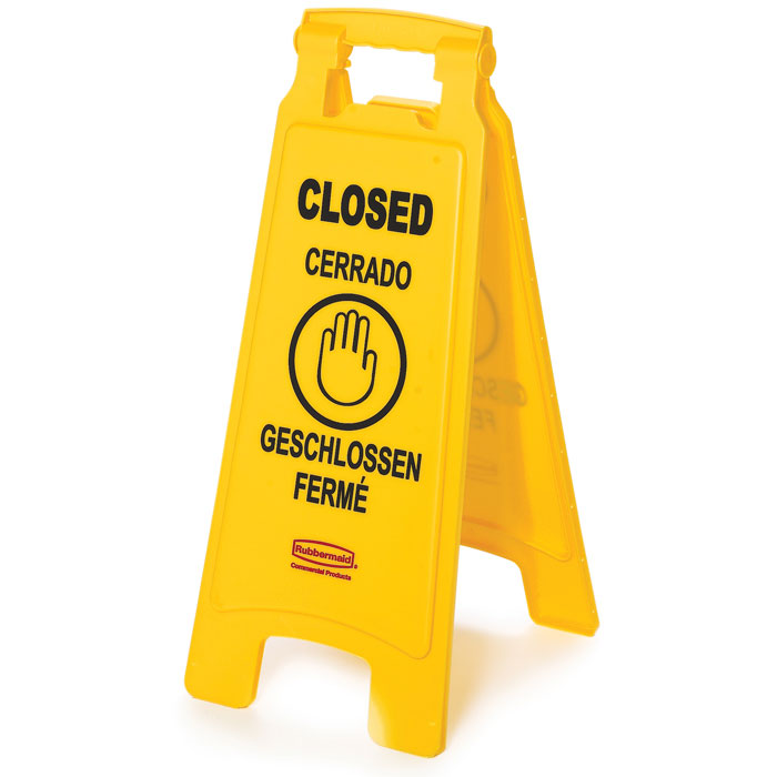 2-Sided Folding Floor Sign - Closed