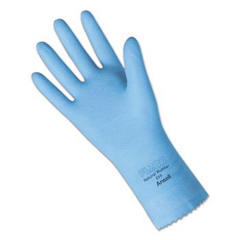 Fishscale-Grip Natural Latex Gloves - Small