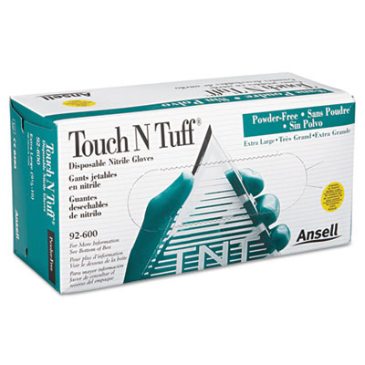 Touch N Tuff Nitrile Gloves, Small