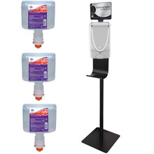 TouchFree Hand Sanitizing Station Kit - White Dispenser
