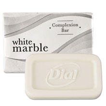 Dial White Marble Amenities Bar Soap - (1000) .75 oz. Bars DIA06009A