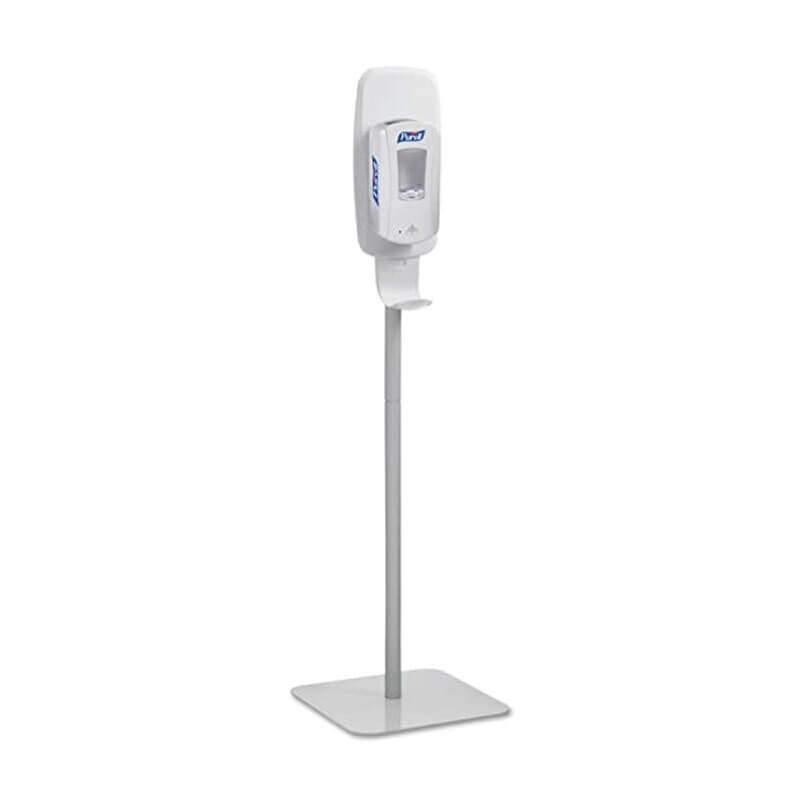 TFX Touch-Free Hand Sanitizing Station Stand - Light Gray