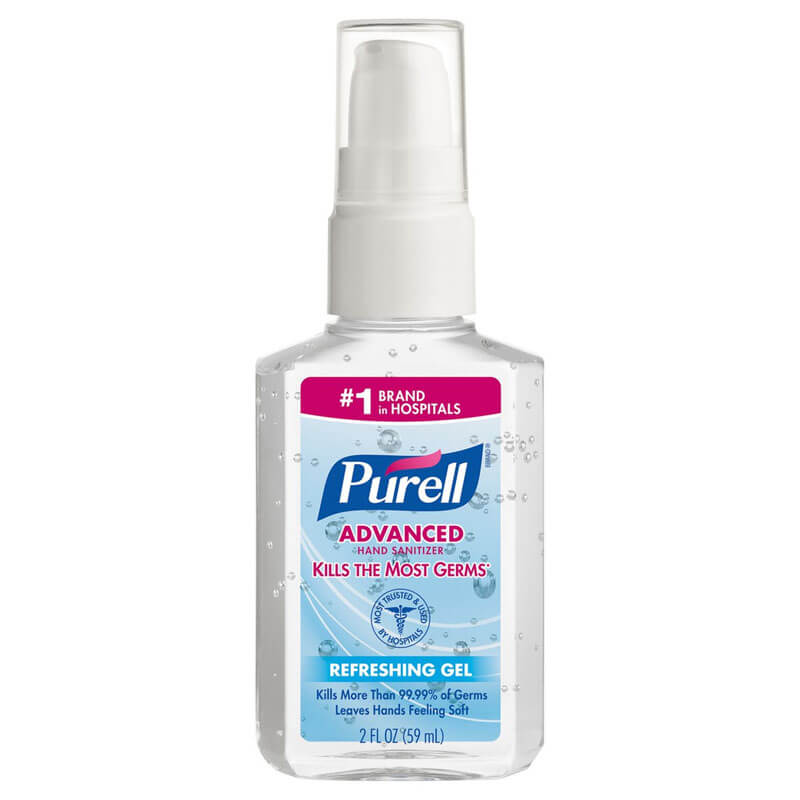 Instant Hand Sanitizer, 2-oz. Personal Pump Bottle