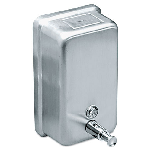 Impact 4040 Stainless Steel Vertical Wall Mount Liquid Soap Dispenser