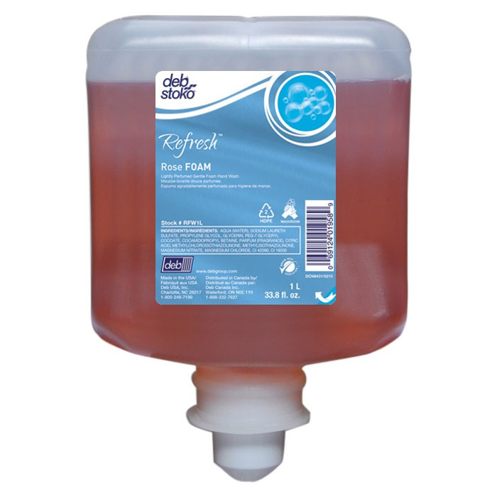 AeroRose Luxurious Plush Foam Soap - (8) 1-Liter Cartridges