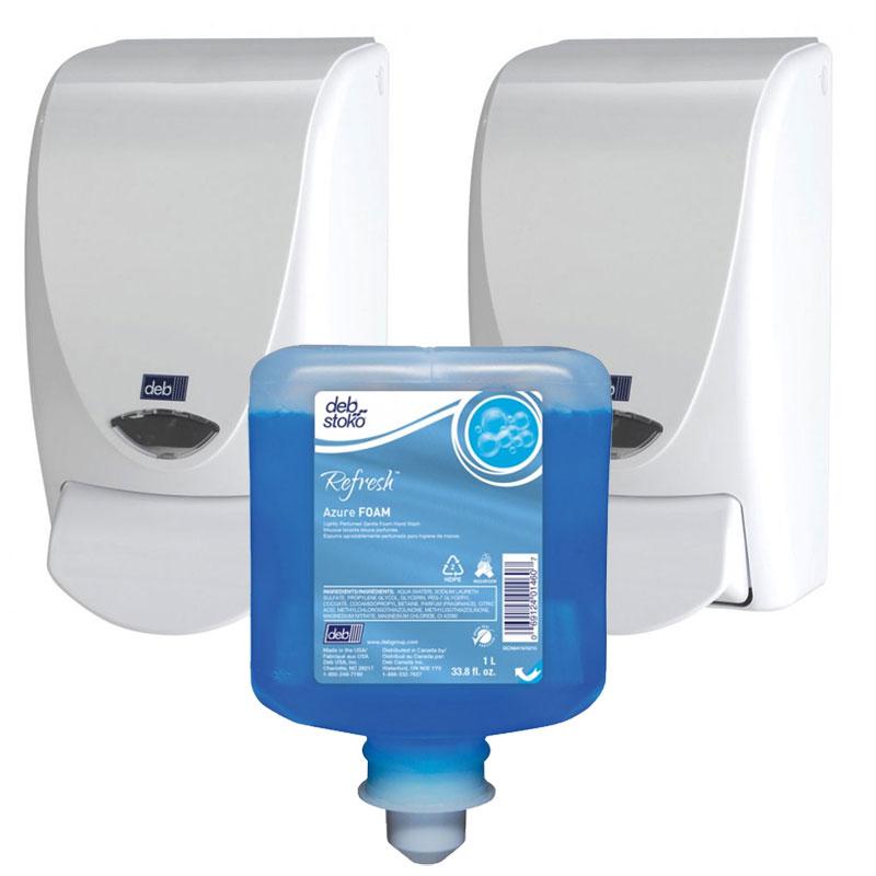 Deb Aeroblue Foam Hand Amp Body Shampoo Curved White