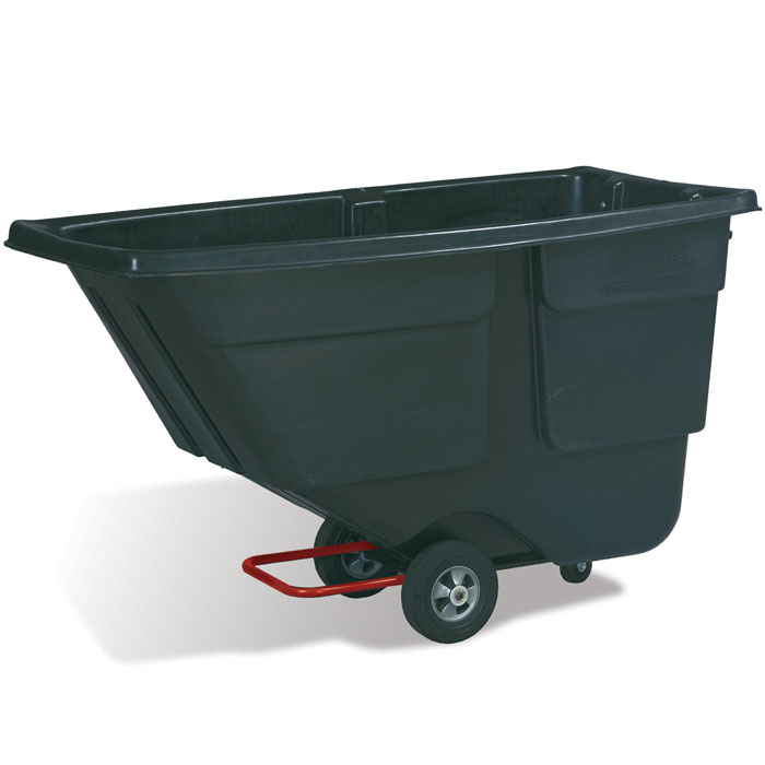 Rubbermaid Commercial Service Trucks - 1/2 Cubic Yard - Black