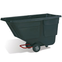 Rubbermaid Commercial Service Trucks - 1 Cubic Yard - Black