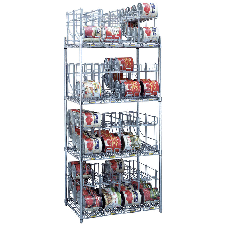 R&B Wire Can Storage & Dispensing Rack System - 4 Tiers