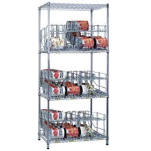 R&B Wire Metal Frame Can Storage & Dispensing Rack System - 3 Tiers