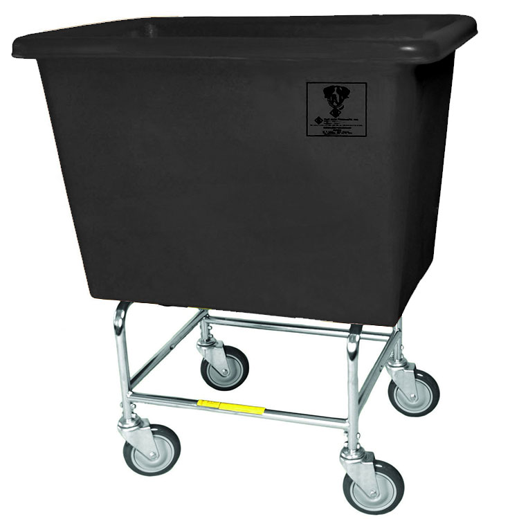 Elevated Bushel Truck w/ Poly Tub - 6 Bushel - Black