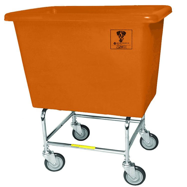 Elevated Bushel Truck w/ Poly Tub - 6 Bushel - Orange