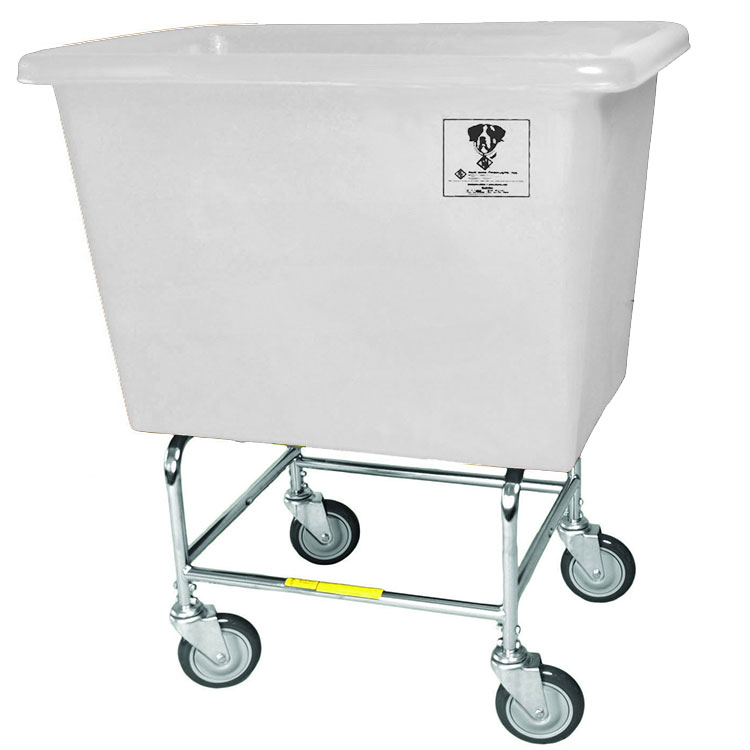 6 Bushel Elevated Bushel Truck w/ Poly Tub - White