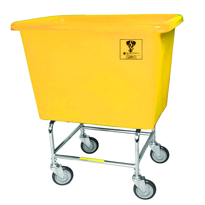 6 Bushel Elevated Bushel Truck w/ Poly Tub - Yellow