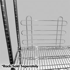 R&B Wire [LCBCKSTP] Metal Linen Rack Adjustable Chrome Plated Backstops - (2) 18