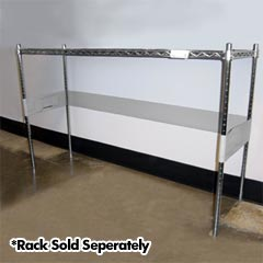 "R&B Wire [LCSFTSTP] Metal Linen Rack Adjustable Vinyl Enclosure Straps w/ Velcro Fasteners - 4"" Wide"