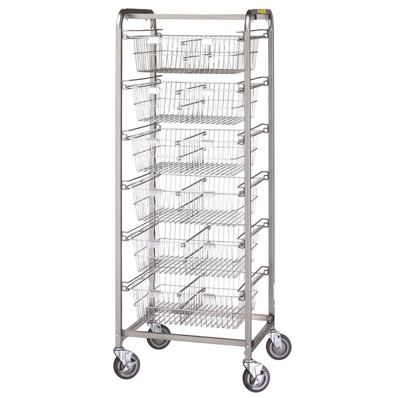 R&B Wire Heavy-Duty Metal Frame Portable Resident Items Storage Cart