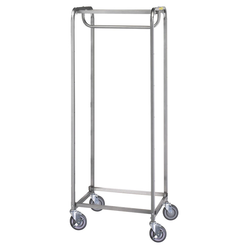 R&B Wire Heavy-Duty Portable Resident Items Hanging Garment Storage Cart