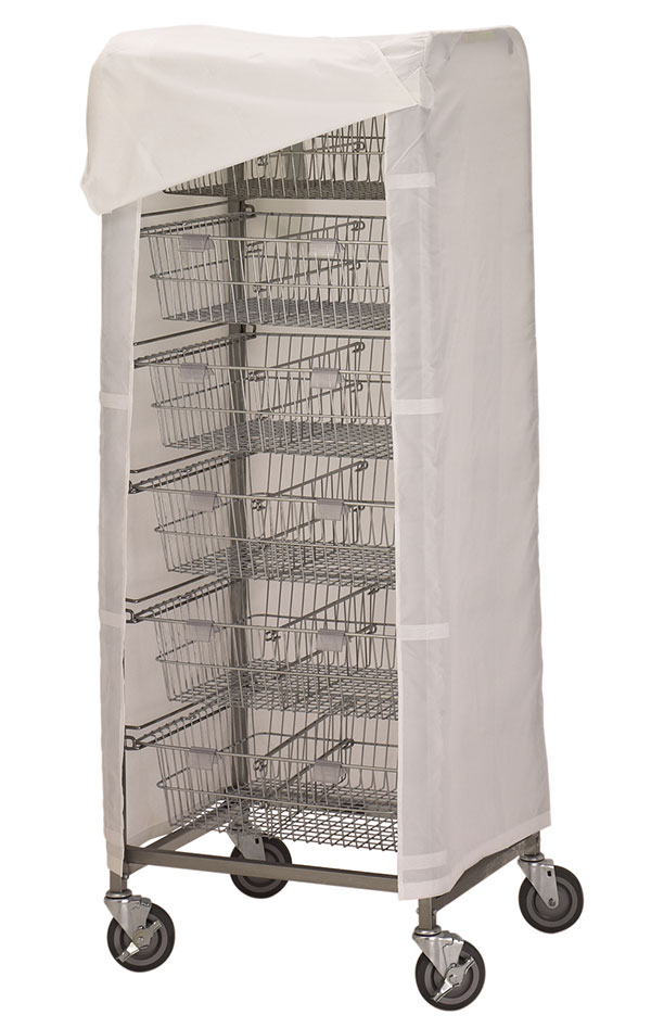 R&B Wire Portable Resident Items Storage Cart Cover - Mauve