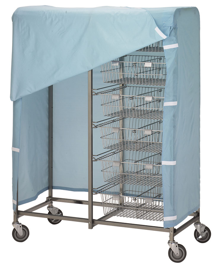 R&B Wire Resident Items Storage Cart Cover - Mauve