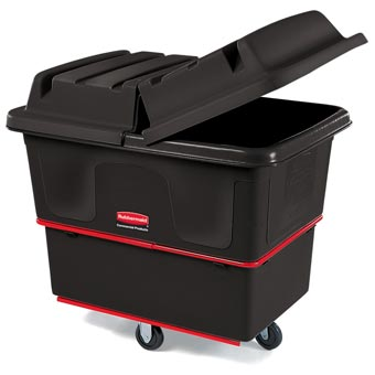 Rubbermaid [4609] Cube & Utility Truck Dome Hinged Lid - Black