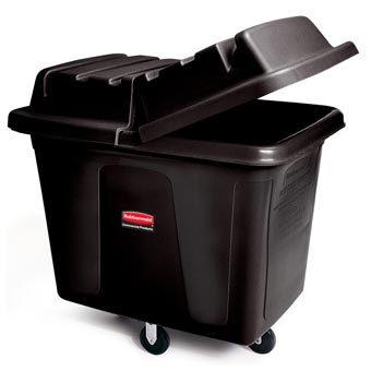 Rubbermaid [4613] Cube & Utility Truck Dome Hinged Lid - Black