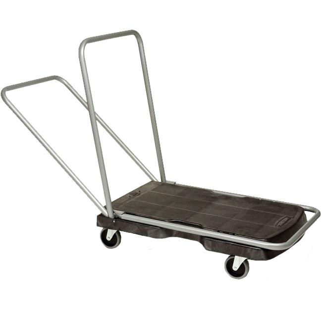 Rubbermaid [4400] Triple® Trolley Light-Duty Platform Truck - Black - 250 lb. Capacity