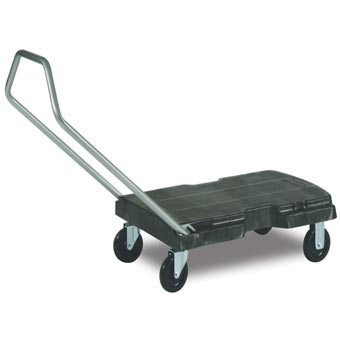 Rubbermaid [4401] Triple® Trolley Heavy-Duty Platform Truck - Black - 500 lb. Capacity