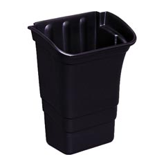 Rubbermaid [3353-88] Utility Cart Refuse/Storage Bin - Black - 8 Gallon