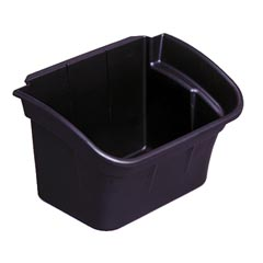 Rubbermaid [3354-88] Utility Cart Refuse/Storage Bin - Black - 4 Gallon