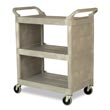 Rubbermaid [3355-88] Light-Duty Utility Cart w/ Enclosed End Panels - Platinum