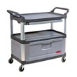 Rubbermaid [4094] Xtra™ Instrument Cart w/ Lockable Doors & Sliding Drawers - Gray RCP4094GRA