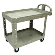 Rubbermaid [4520-88] Heavy-Duty Lipped Shelf Utility Cart - 2 Shelves - Beige