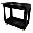 Rubbermaid [9T66] Light-Duty Lipped Shelf Utility Cart - 2 Shelves - Black