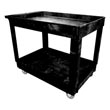 Rubbermaid [9T67] Light-Duty Lipped Shelf Utility Cart - 2 Shelves - Black