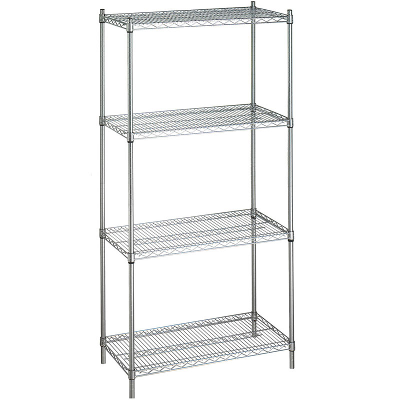 R&B Wire Stationary Adjustable Metal Linen Rack - 4 Wire Shelves