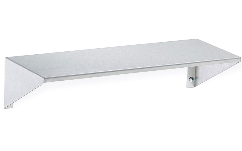 Stainless Steel Wall Shelf w/ Integral End Brackets