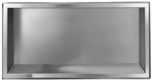 Stainless Steel Recessed Shelf