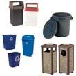 Commercial Indoor/Outdoor Waste Receptacles, Litter Cans & Ashtrays - Janitorial/Maintenance Supplies