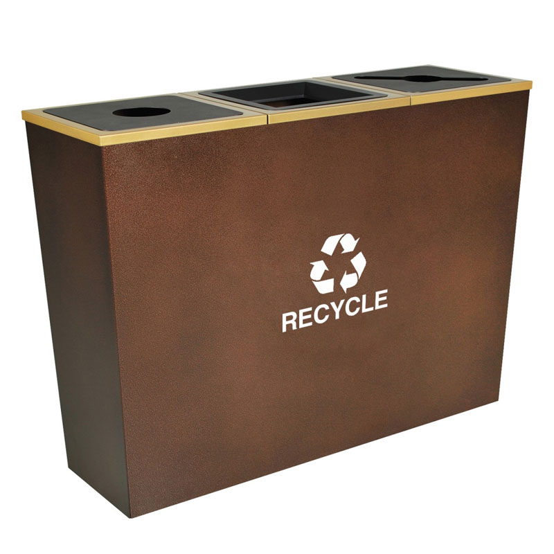 Metro Collection 3-in-1 Recycling Waste Receptacle