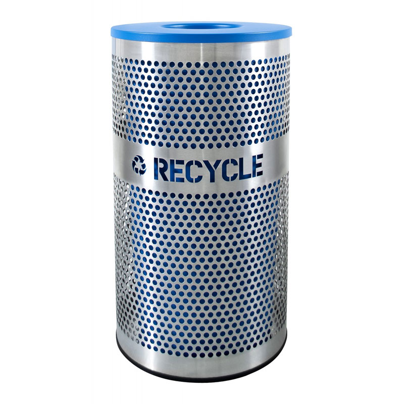 Venue Collection Stainless Steel Recycling Receptacle