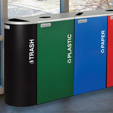 Kaleidoscope Recycling Receptacle Collection