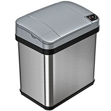 2.5 Gal. Automatic Trash Can - Stainless Steel HLS02SS