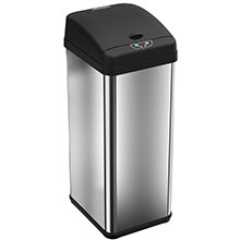 13 Gal. Rectangle Automatic Trash Can - Stainless Steel HLS13MX