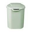 Nine Stars [DZT-8-3] Motion Sensor Activated Plastic Trash Can - Curved Rectangle - Green - 2.1 Gallon NST-DZT83GREEN