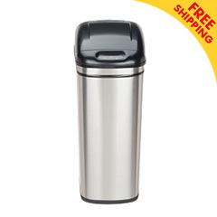 Nine Stars [DZT-42-1] Motion Sensor Activated Stainless Steel Trash Can - Rectangle - 11.1 Gallon