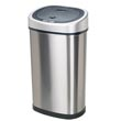 Nine Stars [DZT-50-9] Motion Sensor Activated Stainless Steel Trash Can - Oval - 13.2 Gallon