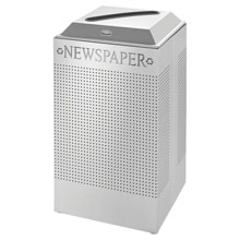 Silhouette Paper Recycling Receptacle - Square - 29 Gallon RCPDCR24PSM