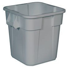 Brute Container, Square, Polyethylene, 28 gal, Gray RCP3526GRA