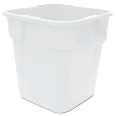 Brute Square Waste Container - White Polyethylene - 40 Gallon RCP3536WHI